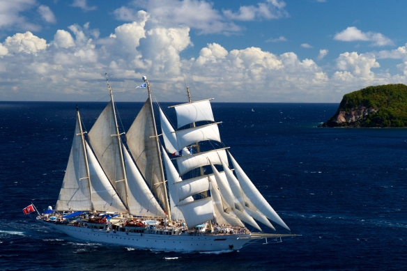 The magnificent Star Clipper, on which I am about to sail for 12 days!