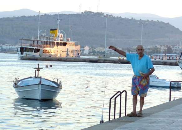 Nafplio fisherman with octopus