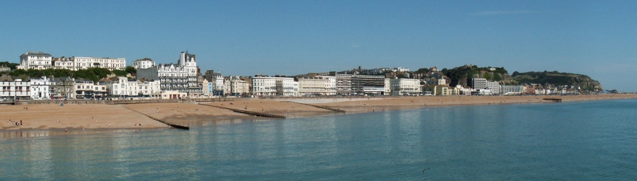 Hastings-beach-view