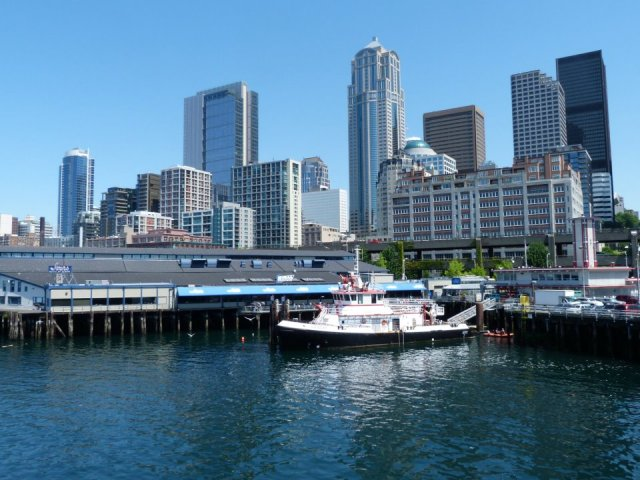 Seattle view from ferry