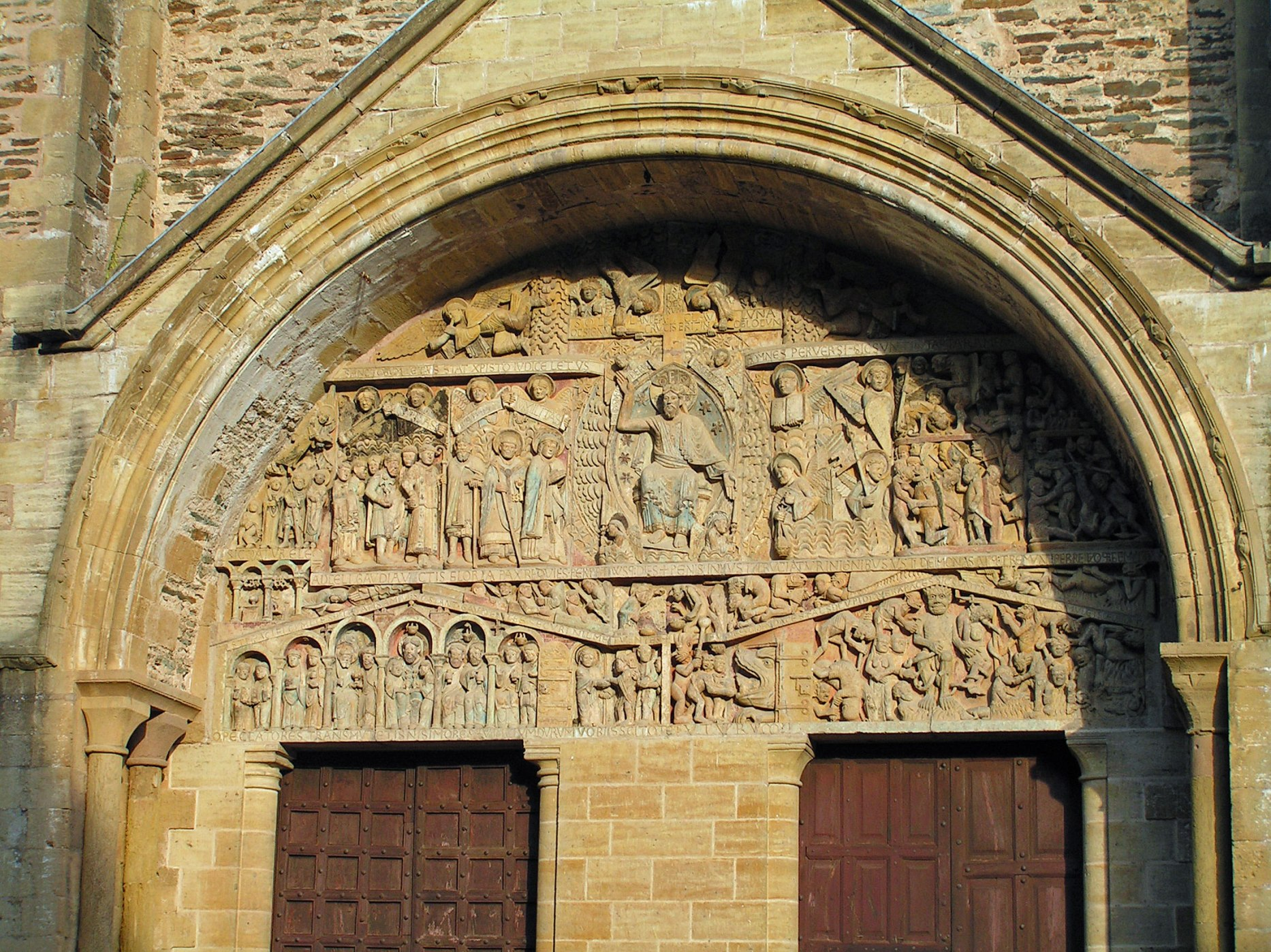 Tympanum,-Abbey-St-Foy-Conques