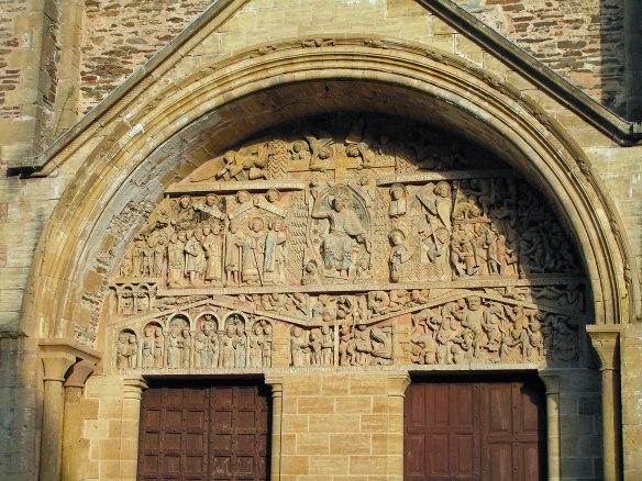 Tympanum,-Abbey-St-Foy-Conques